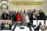 Igreja Assembléia de Deus de Ascurra recebe militares da UMESC
