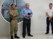 Colocação de bíblia na 1ª CIA em Camboriu