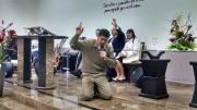 Culto de militares em Taió, na Igreja Santas Missões