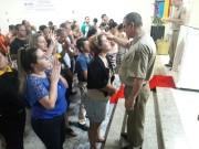 Culto de militares na IEQ em Arroio do Silva