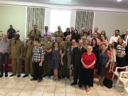 Culto militar na cidade de Itapoá - SC