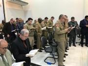 Culto militar na cidade de Joinville