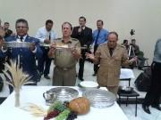 Grande culto de militares em Ascurra. Ministração da Santa Ceia