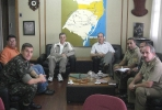 Presidente da UMCEB-UMESC visita Ten Cel Cmt do 10 BeC, Lages-SC