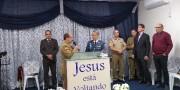 Poderoso culto militar em Bombinhas
