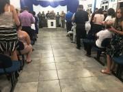 Militares no culto em Barra Velha