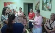 Oração na casa da irmã Rose - Chapecó