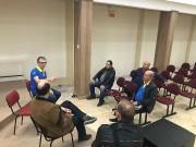 Reunião para culto de ação de graças