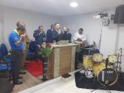 Reunião de militares em adoração a Deus