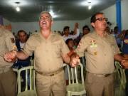 Culto de militares na IEQ - Lages - SC