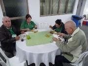 Momento de alimentação dos congressistas