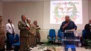 Vários militares adorando a Deus em Lebon Régis